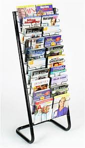 Free Standing Magazine Display Floor Standing Paper Display Rack 100 Pockets 2
