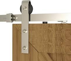 diyhd soft closing brushed nickel steel sliding barn door hardware 5