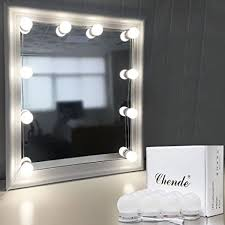 makeup mirror lighting. Chende Hollywood Style LED Vanity Mirror Lights Kit With Dimmable Light Bulbs, Lighting Fixture Strip Makeup
