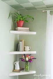Decorative Bathroom Shelving Floating Corner Shelves For Corner By Kitchen Table Cabin