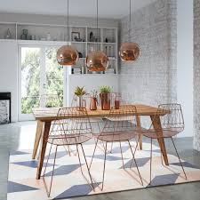 5 modern retro mid century recycled dining table