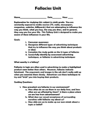 "death"" essay group activity worksheet logical fallacies handout 978653fallacies title page doc"