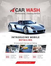 Car Wash Business Flyer Design Template In Psd, Word, Publisher