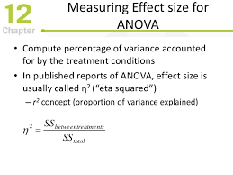 effect size anova introduction to analysis of variance
