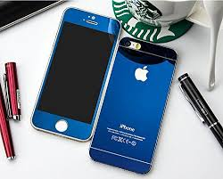 apple iphone 5 5s front back blue scratch resistant tempered glass
