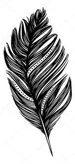 Tetování Pírko Ptáka Stock Vektor Chevnenko 40942171