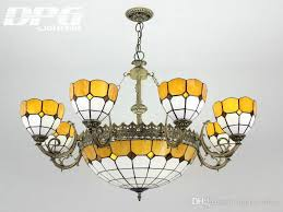 tiffany chandelier stained glass pendant lamps tiffany lights with 8 heads for home decoration bar coffee