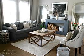 No Furniture Living Room The Shabby Nest No Fireplace No Problem