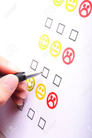 marketing interview checkbox or tickbox and smilie stock stock photo marketing interview checkbox or tickbox and smilie