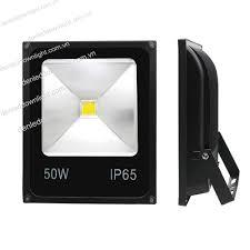 Đèn pha led 50W mỏng loại tốt (ĐỦ WATT, CHÂT LƯỢNG, VỎ ĐEN ) HCM