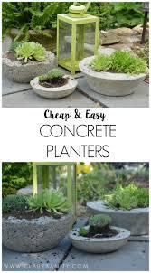 and easy concrete garden planters