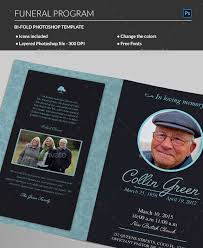 How To Make A Funeral Program 20 Modern And Professional Free Psd Funeral Program