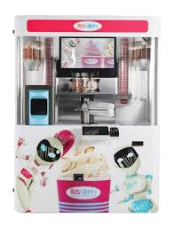 Froyo Vending Machine Delectable CORRECTING And REPLACING Reis Irvy's Frozen Yogurt Robots Are