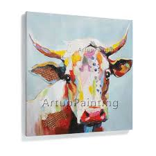 cow painting on canvas aliexpress cow oil painting on canvas wall animal templates