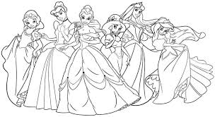 Small Picture Disney Princess Printable Coloring Pages Draw Background Disney