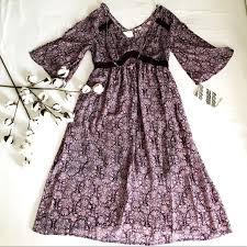 Eyeshadow Clothing Bohemian Floral Dress Nwt