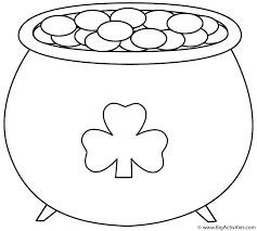 Small Picture Pot of Gold with Shamrock 2 Coloring Page St Patricks Day