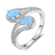 mexican blue opal jewelry australia women s blue fire opal wedding ring genuine 925 sterling silver
