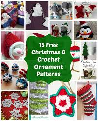 Attractive Crocheted Christmas Tree Ornaments