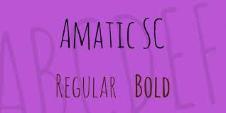 Amatic Sc Font Family 1001 Fonts