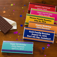 chocolate bar wrappers personalized birthday party favors candy bar wrappers