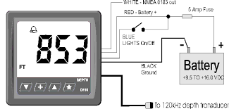 d foot dsp depth sounder alarms nmea  d110 wiring diagram d110 connection diagram