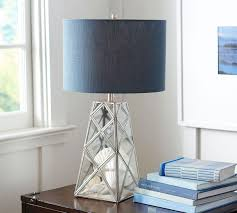 Straight Sided Linen Drum Lamp Shade Pottery Barn Au