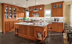 Kitchens With Cherry Cabinets Amazing Cherry Kitchen In Praline KraftMaid