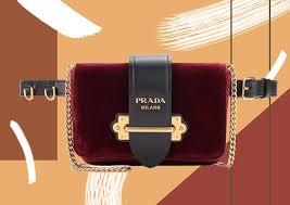 best packs prada velvet belt bag