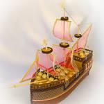 Корабль с конфетами своими руками