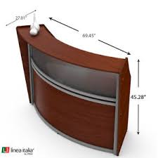office reception desk furniture. Image Is Loading Linea-Italia-Cherry-Wood-Office-Reception-Desk-Counter- Office Reception Desk Furniture U