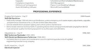 Electrical Apprentice Resume Master Electrician Electrical