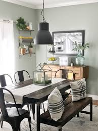 since its a drum light it points the light down onto the table which really shows off the reclaimed wood of our table and it makes the food look even more