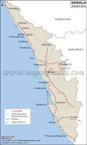 Indian Railway Route Chart Kerala Rail Network Map