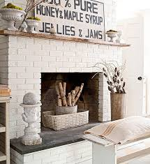 painted diy brick fireplace makeover better homes gardens can you paint brick home design ideas