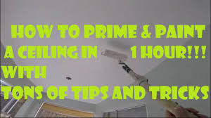 how to prime and paint a ceiling fast in 1 hour tons of diy ceiling painting tips and tricks