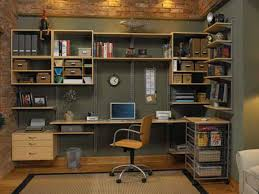garage home office. maple drawers and open shelving home office garage