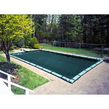 Robelle Supreme Plus Rectangular In-Ground Winter Pool Cover For 12-foot x 24-foot Pools with Tube Kit - Walmart.com 12