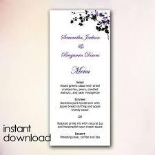 Wedding Menu Templates Microsoft Word