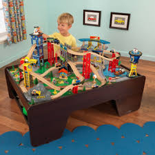 kids train table toy kidkraft ride around set and review super highway rsm