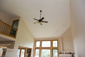 hanging lighted ceiling fan in height white living room with best
