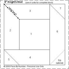 How to Quilt with Paper Foundation Piecing | Foundation piecing ... & Knight's Knot Paper Piecing Quilt Block Pattern Adamdwight.com