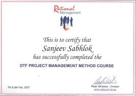 certificates of degrees diplomas trainings dtf project management method course prince2