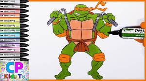 ninja turtles coloring pages michelangelo. Unique Michelangelo Michelangelo Ninja Turtles Coloring Pages For Kids 4  How To Color  Inside N