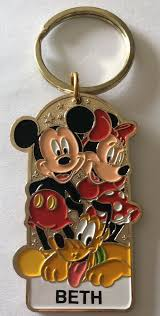 details about disneyland name keychain mickey minnie pluto personalized beth
