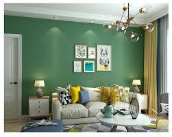 Beibehang Non Woven Fabric Long Fiber Stereo Wall Paper Retro Green