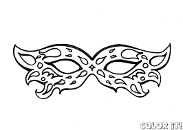 Small Picture Masks Coloring Pages Cecilymae