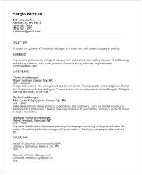 production manager resume example sample resume production worker