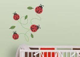 ladybugs nursery wall decal ladybug
