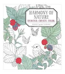 nature coloring book. Beautiful Book Harmony Of Nature Coloring Book With T